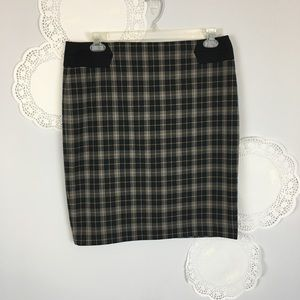 The Limited Plaid Cozy Career Midi Pencil Skirt 12